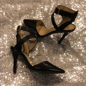 Black closed toe heel
